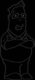 Bill Cartoon Crossed Arms-07